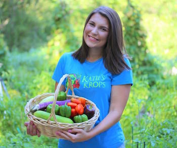 Katie Stagliano is the founder of Katie's Krops, a nonprofit that . Photo courtesy of Katie's Krops.