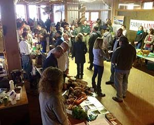 "Grand Rapids-based West Michigan FarmLink offers regular opportunities for farmers and chefs to get to know each other at ""happy hour"" events. (photo courtesy Jerry Adams/West Michigan FarmLink)"