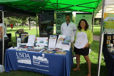 USDA employees conduct outreach and recruitment to the LGBT community in Bend, Oregon. (photo by Erin McDuff/USDA Rural Development)