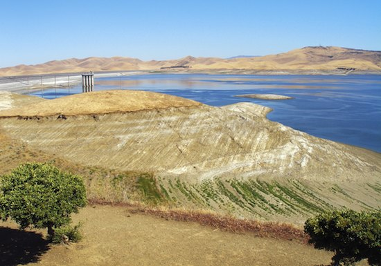 San Luis Reservoir is three-quarters empty, and water officials say the reservoir could drop to historic lows by the end of the summer. Photo/California Farm Bureau Federation