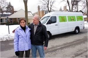 irv and shelly with Fresh Picks van