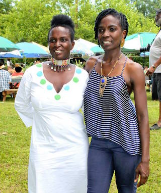 (left to right) Cecilia Gatungo and Jamila Norman, the founders and farmers behind Patchwork City Farms in Atlanta. Photo courtesy of Patchwork City Farms.
