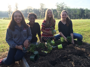 Pine Grove Middle School in Georgia has a robust agriculture program—now, hydroponics will be part of the mix. (photo courtesy Zach Hurley/Pine Grove Middle School)