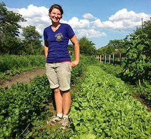 Meg Marotte farm partner at Singing Tree Garden. Image courtesy of Singing Tree Garden.