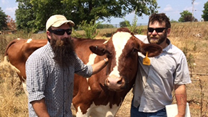 Mike and his brother Fred were successful in raising a loan of $10,000 through Kiva Zip to build infrastructure for their small local dairy facility in Berea, Kentucky, this Summer. Image courtesy of Kiva Zip.