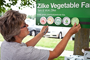 The Zilke Vegetable Farm in Milan, Michigan is one of many Michigan farms that has benefited from the Double Up Food Bucks program. (photo courtesy of Emilie Engelhard/Fair Food Network)