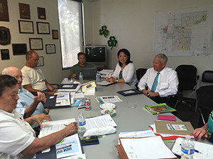 ers of the Riverside Food Systems Alliance meet regularly. On April 16, the Alliance will present an action plan regarding the promotion of local food and agriculture to the Riverside City Council for formal adoption. (photo courtesy of Diana Ruiz)