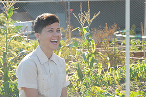 Viviana Franco is founder and executive director of From Lot to Spot, an organization that spearheads efforts for more community gardens and green space throughout Southern California.  photo courtesy of Viviana Franco/From Lot to Spot