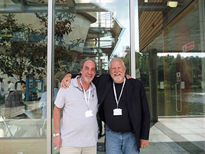 Glenn Behrman (left), founder of GreenTech Agro, is pictured with Dickson Despommier, professor emeritus at Columbia University and a groundbreaking pioneer in the field of vertical farming. (Photo courtesy Glenn Behrman)