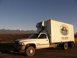 The Western Montana Growers' Cooperative truck makes deliveries across western Montana. Credit: Laurie Childes.