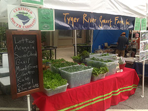 Tyger River sells at local farmers' market. Photo by Ryan Oates