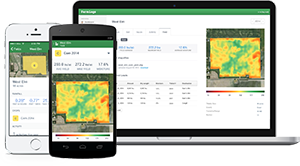 FarmLogs yield maps are accessible on laptops, tablets and smartphones. (photo courtesy of Jesse Vollmar/FarmLogs)