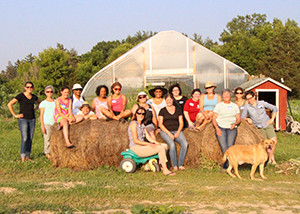Network participants from Flint and Lansing, at Thread Creek Farm, Grand Blanc, Michigan.  Credit: MIFFS