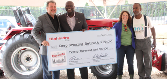 Mahindra USA Boosts Michigan's Urban Farm Space