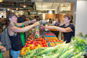The Boston Public Market, which opened on July 30, sources 92 percent of its food from Massachusetts, and the rest from other New England states. (photo courtesy of Andrew Farnitano/Boston Public Market)