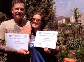 Jason Wood and Emily Gleicher run Farm LA, Photo courtesy of Emily Gleicher.