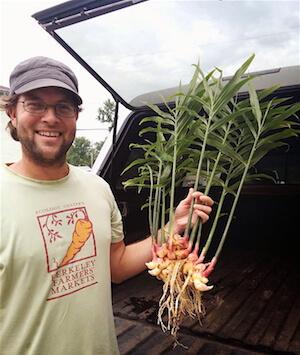 Joseph Swain, head farmer at Swainway Urban Farm located in the Clintonville neighborhood of central Ohio. Photo courtesy of Swainway Urban Farm.
