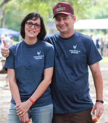 Paula and Glenn Foore decided to start a farm on their land in east Austin that they initially used for a landscaping business. They started Springdale Farm in 2009. Photo courtesy of Mel Cole.