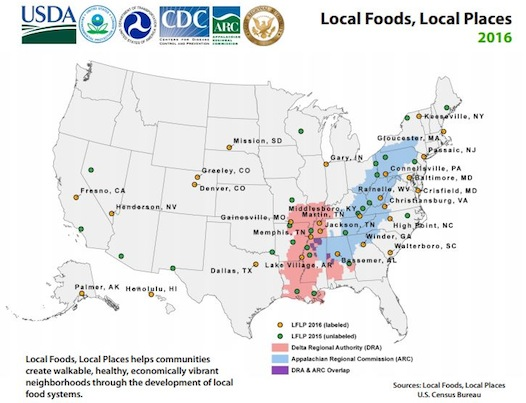 Last week, on behalf of the White House Rural Council, six federal agencies joined together to announce the selection of 27 communities in 22 states that will participate in Local Foods, Local Places, a federal initiative that helps communities increase economic opportunities for local farmers and related businesses, create vibrant places and promote childhood wellness by improving access to healthy local food.