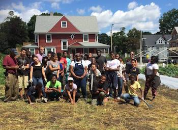 Participants in the Urban Farming Institute of Boston. Photo courtesy of Urban Farming Institute of Boston.