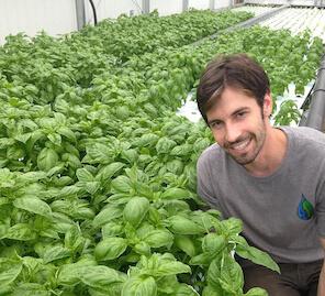 Bowen DornBrook, founder of Central Greens, Photo credit: Samantha Gründlich.
