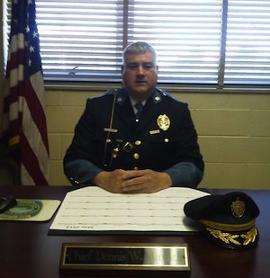Dennis Minnich, West Boylston, MA Chief of Police and Owner of Stone's Throw Farm. Photo Credit: West Boylston Police Dept.