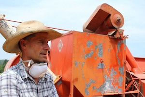 Artist and wheat farmer, Michael O'Malley. Photo Credit: Michael O'Malley.