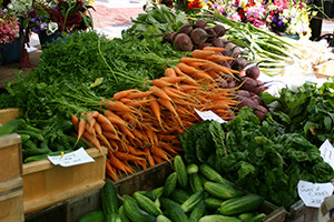 Maine, which ranks No. 4 on the Locavore Index, has over 125 farmers' markets serving delicious and colorful produce. (photo courtesy of John Bott/Maine Department of Agriculture, Conservation and Forestry)