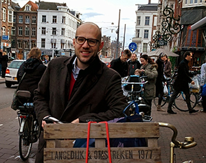 Chiel Muurling is the founder of Wetailer, a shared economy-model that fosters collaboration between urban food producers. (photo courtesy of Chiel Wuurling)