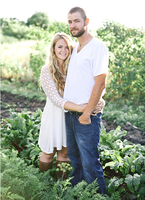 Hannah and Jonathan Moser. Photo courtesy of Forager Farm.