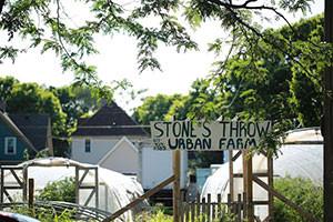 Stone's Throw Farm CSA Pickup.  Image courtesy of Stone's Throw.
